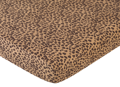 Cheetah Girl Fitted Crib Sheet For Baby And Toddler
