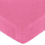 Cheetah Girl Fitted Crib Sheet for Baby and toddler Bedding Sets by Sweet Jojo Designs - Solid Pink