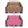 Cheetah Girl Pink and Brown Baby Crib Side Rail Guard Covers by Sweet Jojo Designs - Set of 2
