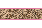 Cheetah Girl Pink and Brown Baby, Kids and Teens Wall Paper Border by Sweet Jojo Designs
