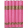 Cheetah Girl Pink and Brown Kids Bathroom Fabric Bath Shower Curtain