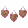 Cheetah Girl Pink and Brown Wall Art Hangings by Sweet Jojo Designs