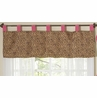 Cheetah Girl Pink and Brown Window Valance