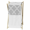 Childrens/Kids Clothes Laundry Hamper for Gray and White Trellis Bedding by Sweet Jojo Designs