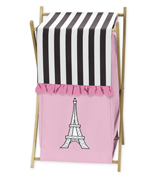 Childrens/Kids Clothes Laundry Hamper for Paris Bedding