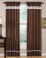 Chocolate and White Spa Collection Window Treatment - Set of 2