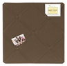 Chocolate Brown Fabric Memory/Memo Photo Bulletin Board