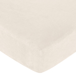 Chocolate Teddy Bear Fitted Crib Sheet for Baby and Toddler Bedding Sets by Sweet Jojo Designs - Cream Microsuede
