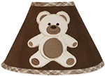 Chocolate Teddy Bear Lamp Shade by Sweet Jojo Designs