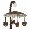 Chocolate Teddy Bear Musical Baby Crib Mobile by Sweet Jojo Designs