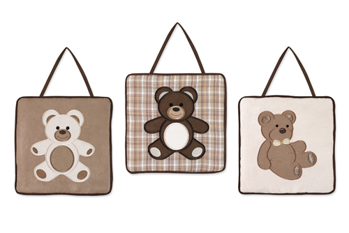 Chocolate Teddy Bear Wall Hanging Accessories by Sweet Jo...