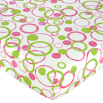JoJo Designs Circles Fitted Crib Sheet for Baby and Toddl...
