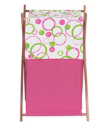 Circles Pink and Green Baby and Kids Clothes Laundry Hamper by Sweet Jojo Designs