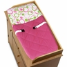Circles Pink and Green Baby Changing Pad Cover by Sweet Jojo Designs