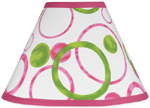 Circles Pink and Green Modern Lamp Shade by Sweet Jojo Designs