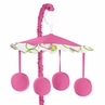 Circles Pink and Green Musical Baby Crib Mobile by Sweet Jojo Designs