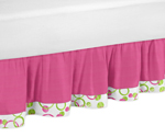 Circles Pink and Green Queen Bed Skirt by Sweet Jojo Designs