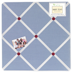 Come Sail Away Fabric Memory/Memo Photo Bulletin Board