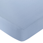 Come Sail Away Fitted Crib Sheet for Baby and Toddler Bedding Sets by Sweet Jojo Designs - Solid Blue