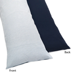 Come Sail Away Full Length Double Zippered Body Pillow Case Cover by Sweet Jojo Designs