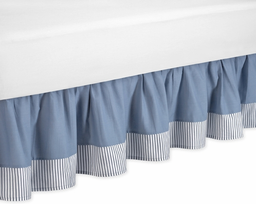Come Sail Away Nautical Bed Skirt For Toddler Set By Sweet