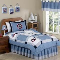 Come Sail Away Nautical Childrens Bedding - 4 pc Twin Set