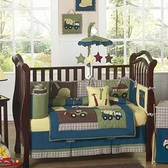 Construction Zone Baby Bedding - 9 pc Crib Set
