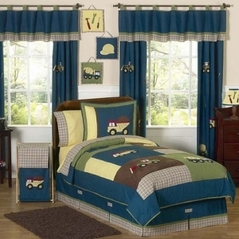 Construction Zone Childrens Bedding - 3 pc Full / Queen Set