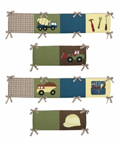 Construction Zone Collection Crib Bumper by Sweet Jojo Designs