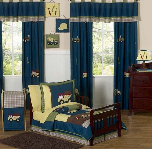 Construction Zone Toddler Bedding - 5 pc Set - Click to enlarge
