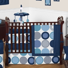 Cool Dot Baby Bedding - 9 pc Crib Set by Sweet Jojo Designs