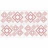 Coral and White Diamond Baby and Kids Wall Decal Stickers - Set of 4 Sheets