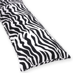 Cotton Full Length Double Zippered Body Pillow Cover for Lime Zebra Bedding Set