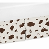 Cow Print Crib Bed Skirt for Western Theme Bedding Sets