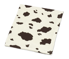 Cowgirl Cow Print Plush Fleece Baby Crib Receiving Blanket by Sweet Jojo Designs