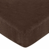 Cowgirl Fitted Crib Sheet for Baby and Toddler Bedding Sets by Sweet Jojo Designs - Chocolate Microsuede