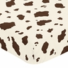 Cowgirl Fitted Crib Sheet for Baby and Toddler Bedding Sets by Sweet Jojo Designs - Cow Print