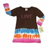 Crystal Love Tie Dye Infant Baby Dress by Sweet Jojo Designs