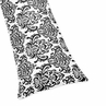 Damask Full Length Double Zippered Body Pillow Cover for Pink, Black and White Isabella Bedding Set