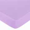 Danielle's Daises Fitted Crib Sheet for Baby and Toddler Bedding Sets by Sweet Jojo Designs - Solid Light Purple