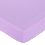 Danielle's Daisies Fitted Crib Sheet for Baby and Toddler Bedding Sets by Sweet Jojo Designs - Solid Light Purple
