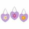 Danielle's Purple Daisies Wall Hanging Art Decor 3 Piece Set