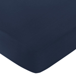 Fitted Crib Sheet for Robot Baby/Toddler Bedding by Sweet Jojo Designs - Dark Blue