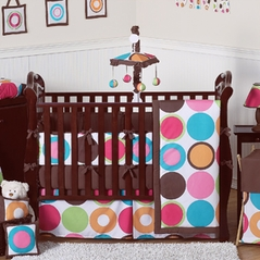 Pink and Brown Crib Bedding - JoJo Designs