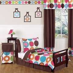Deco Dot Modern Kids Toddler Bedding - 5pc Set