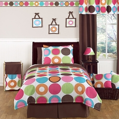 Deco Dot Modern Teen Bedding - 3pc Full / Queen Set