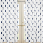 Deer Print Window Treatment Panels for Woodland Deer Collection by Sweet Jojo Designs - Set of 2