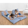 Denim Blue Kids Teen Floor Pillow Case Lounger Cushion Cover by Sweet Jojo Designs