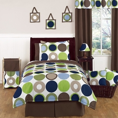 Designer Dot Modern Childrens and Teen Bedding Set by Sweet Jojo Designs - 4 pc Twin Set