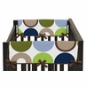 Designer Dot Modern Baby Crib Side Rail Guard Covers by Sweet Jojo Designs - Set of 2